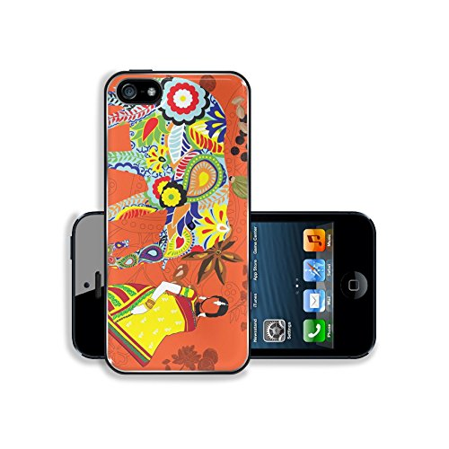 MSD Premium Apple iPhone 5 iphone 5S Aluminum Backplate Bumper Snap Case IMAGE ID: 14030366 bright background with the symbols of the symbol of India (Elephant Ear Chili Pepper compare prices)