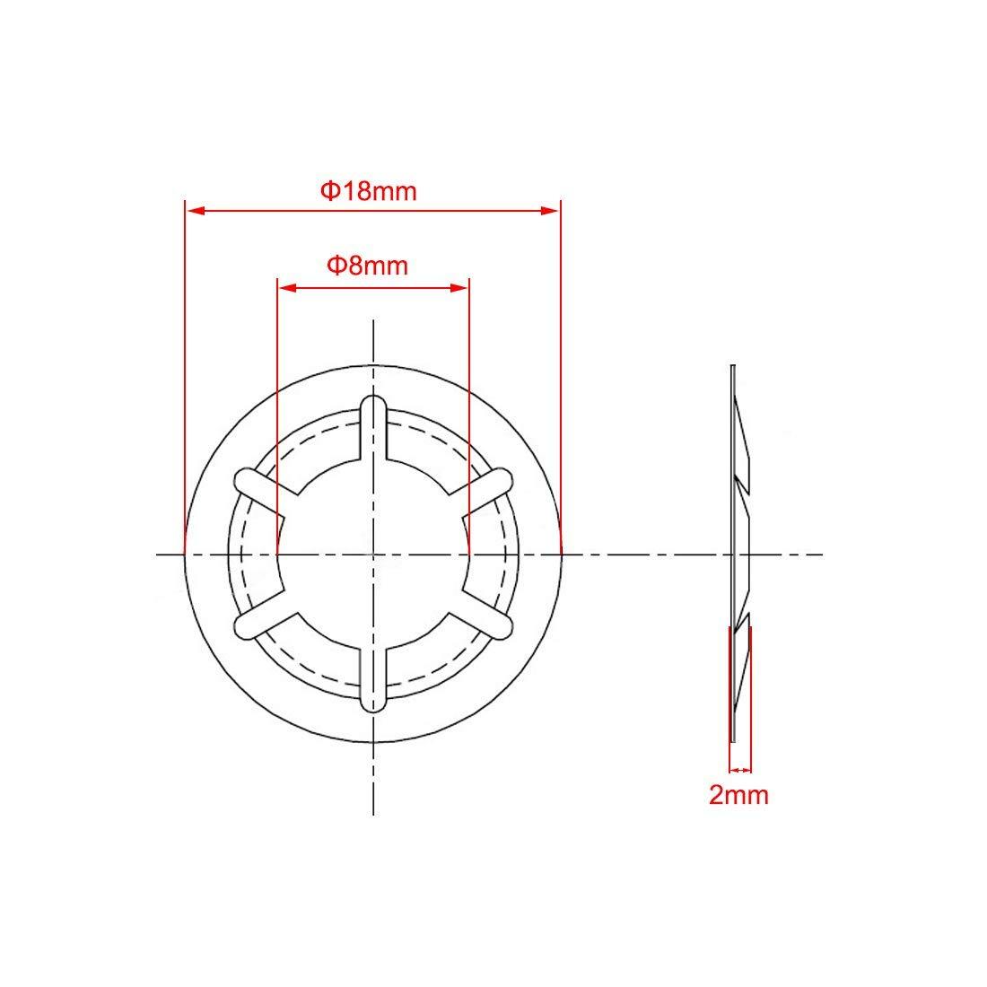 Pressurized Pressure Washer Fixing washers Clip Holder 8 mm Internal Diameter 18 mm External Diameter M8 Internal Tooth starlock Washer 200 Pieces