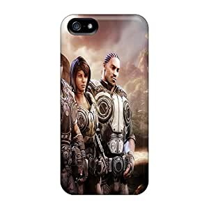 Bumper Cell-phone Hard Covers For Iphone 5/5s (ZSb8330KqXx) Allow Personal Design Realistic Gears Of War 3 Pictures