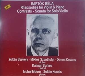 Bela Bartok Zoltan Szekely Isobel Moore Miklos
