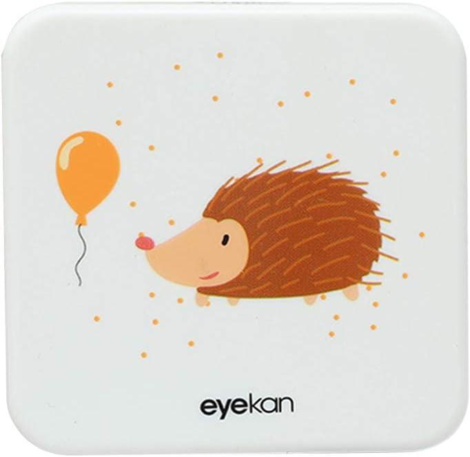 Drawihi Mini Caja Portatil Lentillas Twin Estuche para Gafas y lentillas Caja de Lentes Viaje para Lentes de Contacto Tamano de Bolsillo con para lentillas, para líquidos y Pinzas(Erizo Cuadrado): Amazon.es: Coche