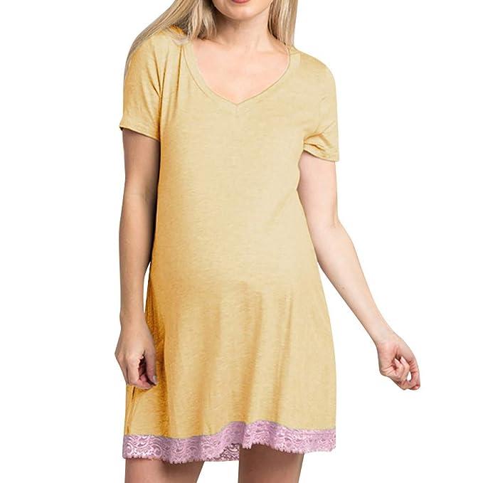 Moda Color Sólido Vestidos Falda de Mujer Suelto Casuales Cómodo ...