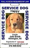 Custom Service Dog ID Card (Blue)