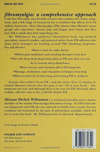 Fibromyalgia a comprehensive approach what you can do about chronic fibromyalgia a comprehensive approach what you can do about chronic pain and fatigue miryam ehrlich williamson david a nye 9780802774842 amazon fandeluxe Image collections