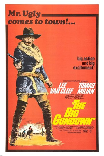 The Big gundown Movie Poster Spaghetti western Van Cleff & Milian reproduction, not an