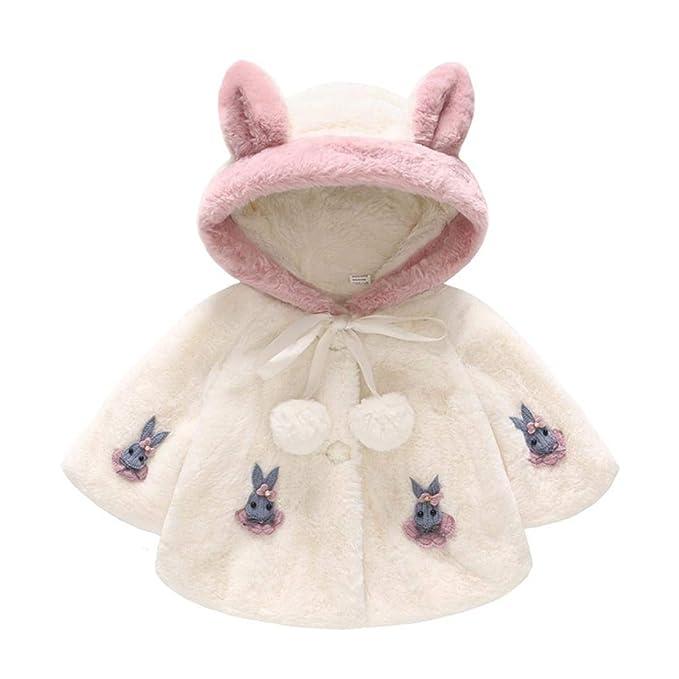 Abrigos bebé, ❤ Modaworld Abrigo con Capucha de Conejo de Manga Larga de bebé