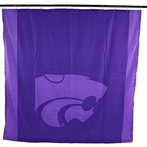 College Covers NCAA Kansas State Wildcats Big Logo Shower Curtain, Purple, 72