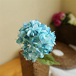 FYYDNZA 1 Branch Simulation Yellow Blue Pink Hydrangea Flowers Artificial Fake Flower Arrangement Wedding Hotel Home Party Decoration,05 4