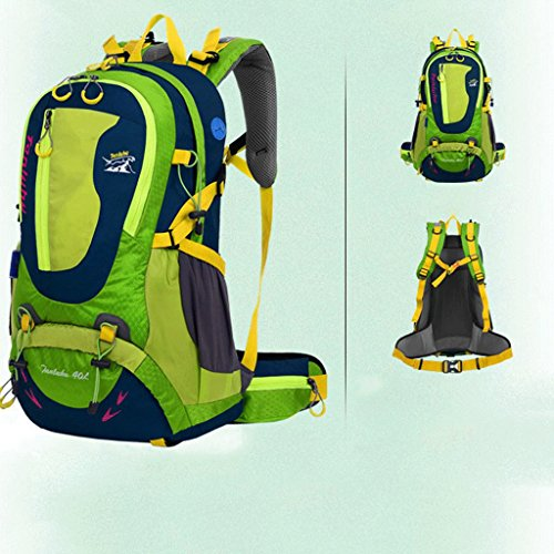 bolso de hombro del recorrido de gran capacidad genuina con el soporte de ocio mochila de viaje deportes al aire libre los hombres y mujeres del alpinismo 40L bolsas verde