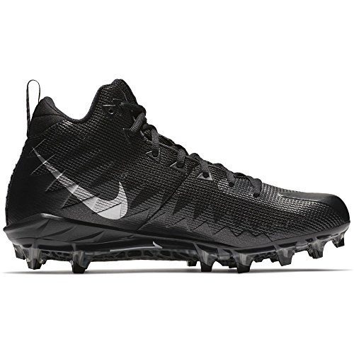 Nike Alpha Pro TD Football Cleats (15 Black/Metallic Silver)