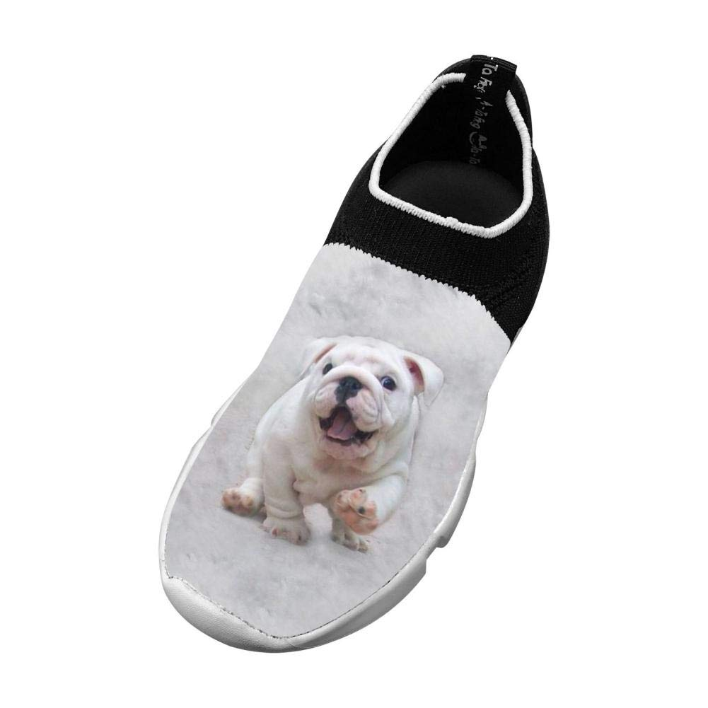 Sports Flywire Weaving Sneakers For Boys Girls Print Dog Run