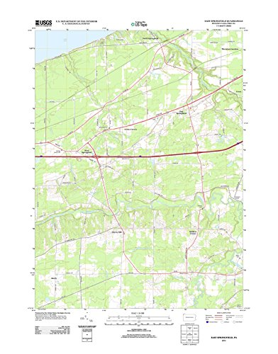 Topographic Map Poster - EAST SPRINGFIELD, PA TNM GEOPDF 7.5X7.5 GRID 24000-SCALE TM 2010 16