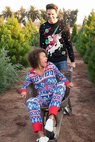 Men's Santa Unicorn Christmas Sweater - Ugly Christmas Sweater for Men