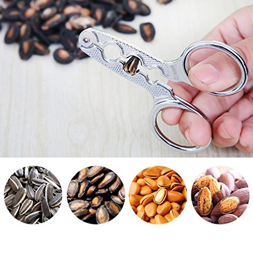 Gold Sunflower Seed - Vacally New Alloy Melon Seed Pliers Sunflower Seed Nut Almond Scissor Forceps Pliers Kitchen Tool