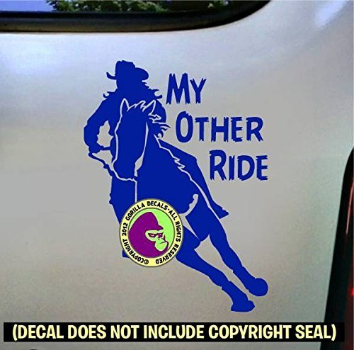 MY OTHER RIDE Barrel Racing Vinyl Decal Sticker B