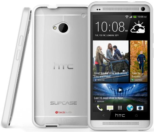 supcase-premium-hybrid-protective-case-for-htc-one-m7-smartphone-white-clear-multiple-color-options