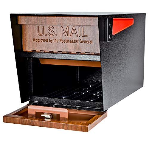 Mail Boss Curbside 7510 Mail Manager Locking Security Mailbox, Wood Grain, Black Powder Coat by Mail Boss (Image #7)