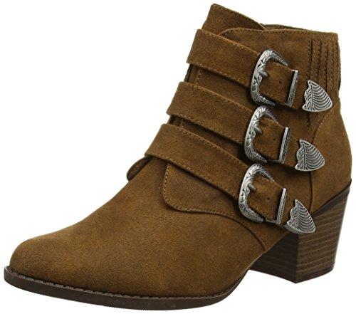 Dorothy Perkins Damen Angela Buckle Chelsea Boots Braun