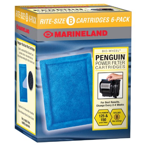 Salt Level Koi Pond - Marineland Penguin Power Filter Cartridges, Rite-Size B, 6-Count