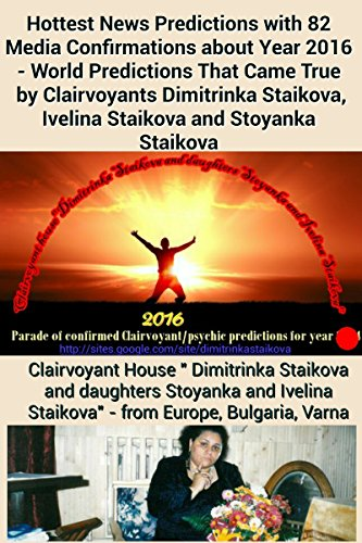 Hottest News Predictions with 82 Media Confirmations about Year 2016 - World Predictions That Came True  by Clairvoyants Dimitrinka Staikova, Ivelina Staikova and Stoyanka Staikova by [Staikova, Dimitrinka, Staikova, Ivelina, Staikova, Stoyanka]