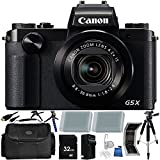 Canon PowerShot G5 X Digital Camera - International Version (No Warranty) 32GB Bundle 18PC Accessory Kit Which Includes Two Replacement NB-13L Batteries, 5 Piece Camera Cleaning Kit, MORE
