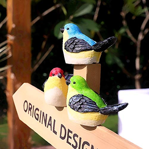 (DANDI Solar Powered Pack of 3 Birds. Night Glowing Multi-color Figure Decoration | Clips for Trees and Fences | Auto On/Off | Outdoor Landscape Lighting Decor For Garden, Patio, Porch, Yard)