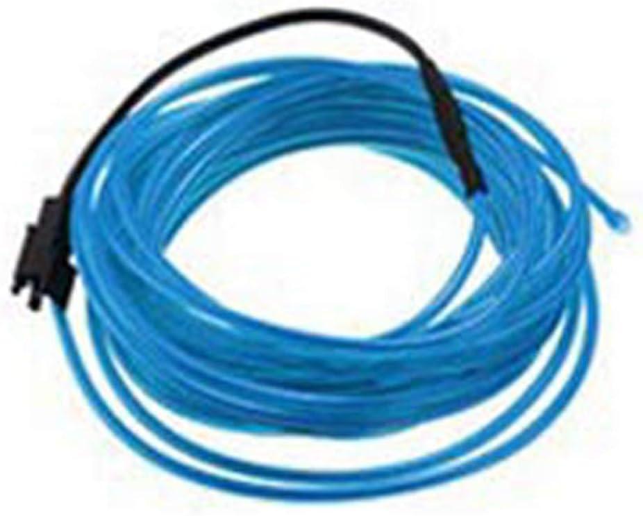 DC12V 5M Neon LED EL Draht Kabel Lampe Glow String Licht Tube Dekoration Lila