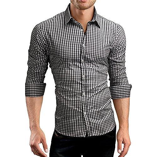 Black and White Checkered Shirt: Amazon.com
