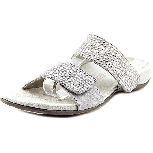 Vionic Women's Samoa Slide Sandal Pewter 10 W