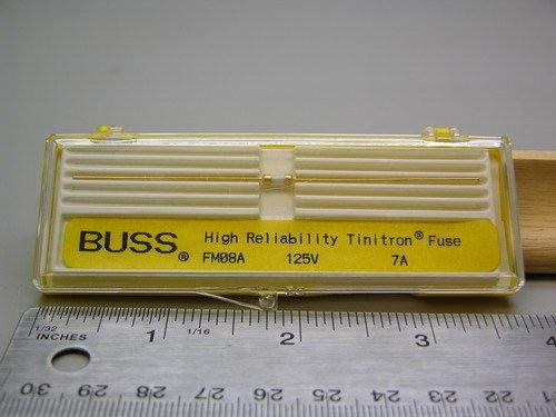 Mil-Spec Cooper Bussmann FM08A125V7A / Mil-F-23419/08 125V 7A Instrument Fuse