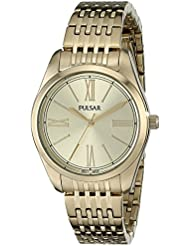 Pulsar Womens PG2010 Analog Display Japanese Quartz Gold Watch