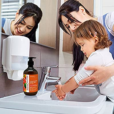Natural Solution Hand Soap,Organic Blood Orange,Himalayan Pink Salt, Moisturizing & Silky, by Dr.Barbara Hendel