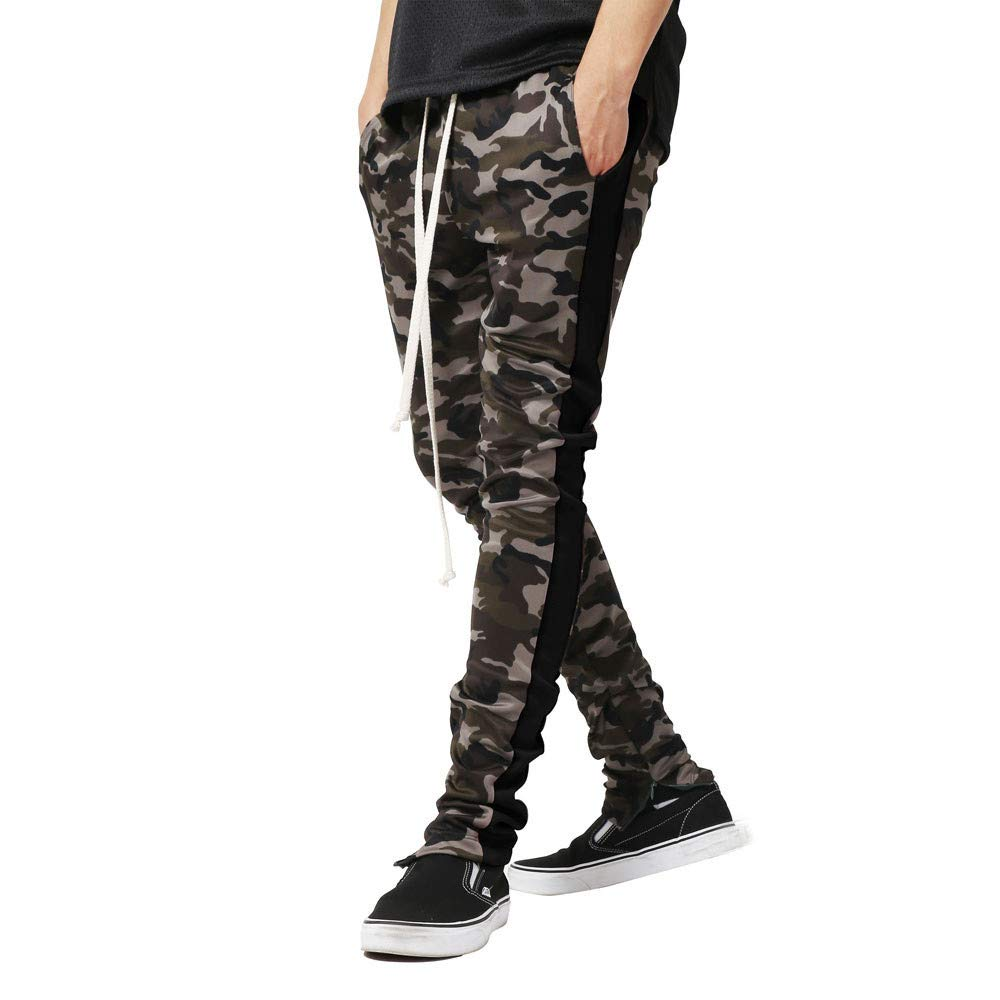 Stoota 2019 Newest Men Splicing Camouflage Overalls Casual Pocket Sport Work Casual Trouser Pants