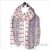 Eyes of India - 18 X 72 Colorful Reversible Vintage Kantha Silk Wrap Scarf Shawl Stole Bohemian Boho