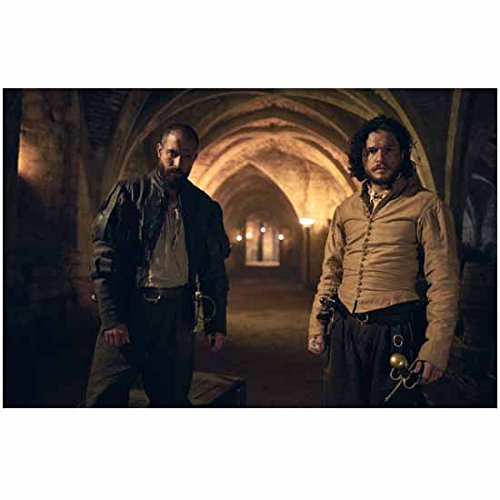 Kit Harington 8 Inch x 10 Inch Photograph Gunpowder (TV Mini-Series 2017) Standing Under Archways w/Tom Cullen kn