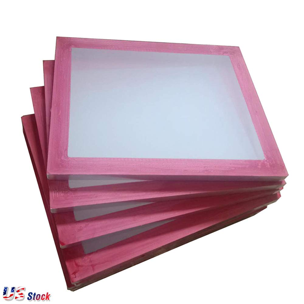 6 Pcs in US Stock 20 x 24 Aluminum Frame Screen Printing Screens with 305 Yellow Mesh Count