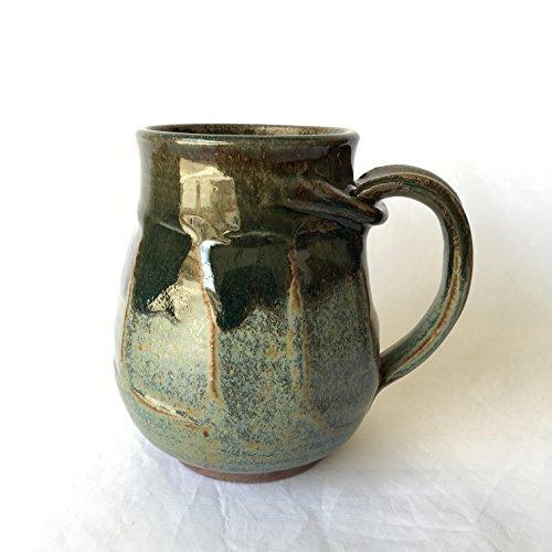 Faceted Coffee Mug, Ceramic Coffee Mug, Wheel Thrown Mug FCTJUL17M8 15 OZ