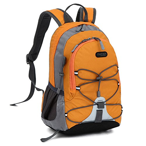 Small size Waterproof Sport Backpack, 10 inches Lightweight Ultra Light backpack, for Girls Boys Kids Traveling (Orange) ()