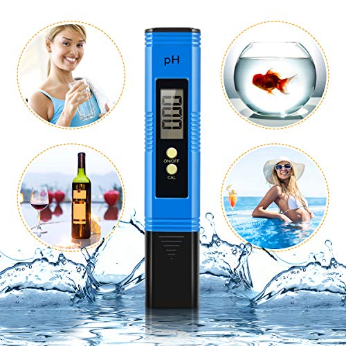 Yeslike Digital PH Meter, PH Meter 0.01 PH High Accuracy Water Quality Tester with 0-14 PH Measurement Range for Household Drinking, Pool and Aquarium Water PH Tester Design with ATC (Blue) by Yeslike (Image #6)
