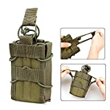 Magazine Holder 1PC Tactical Molle Compatible Single Stacker Open-Top pistol Mag Pouch Holder