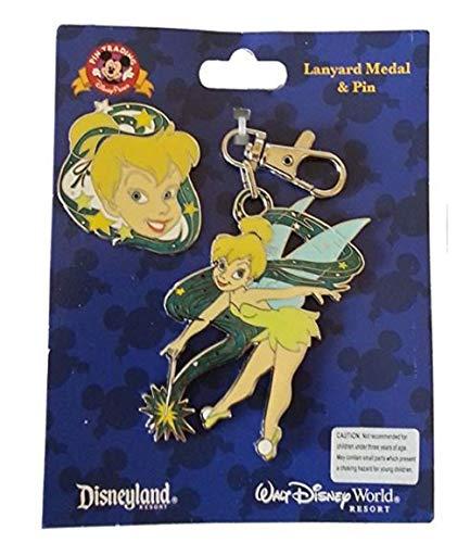 Disney Tinker Bell Lanyard Metal and Pin Theme Parks