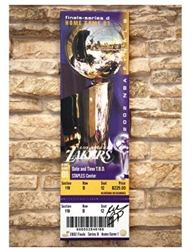 Kobe Bryant Signed Autograph Oversized 2002 Nba Finals Canvas Ticket Panini Le 24 Certified Authentic