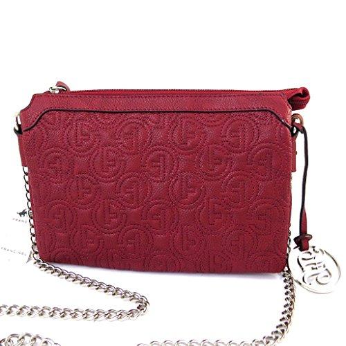 Bolso de la bolsa 'Romy'acolchado rojo.