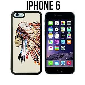 Native American Skull Custom made Case/Cover/Skin for iPhone 6 - Black