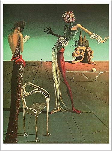 Woman With A Head Of Roses. Salvadore Dali. Art Poster Print Reproduction (16.2