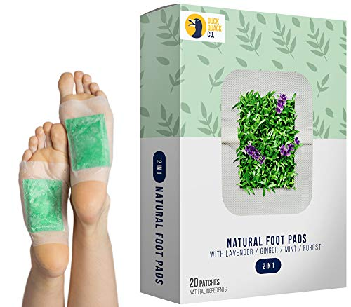 Premium Foot Pads for Stress Relief Sleep - Remove Toxins, Rest and Pain Free, 20 Organic Adhesive Patches, Health Care Aid, Natural Relaxing Lavender Aroma, FDA Calming Body Cleansing Pad - Remove Foot Pad Toxins