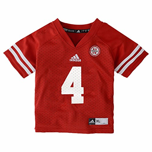 adidas Nebraska Cornhuskers NCAA Toddler Red Official Home #4 Football Jersey (2T) (Football Shirt Jersey Ncaa)