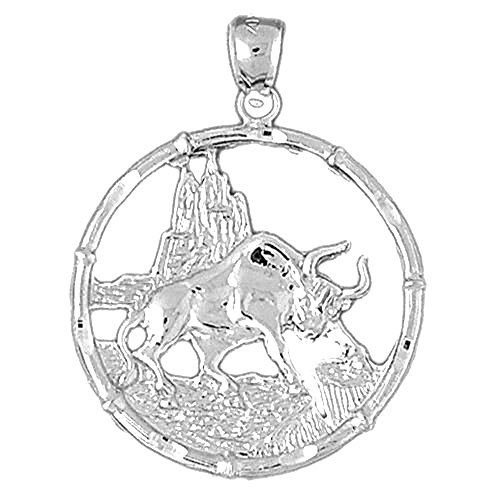 Jewels Obsession Chinese Zodiacs -Tiger Pendant   Sterling Silver 925 Chinese Zodiacs -Tiger Pendant - 37 mm