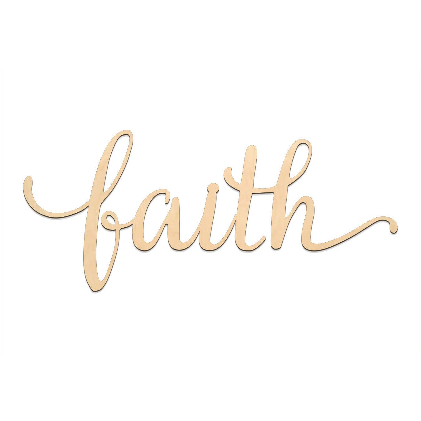 Amazoncom Surprising Faith Script Word Wood Sign Wooden Words Sign