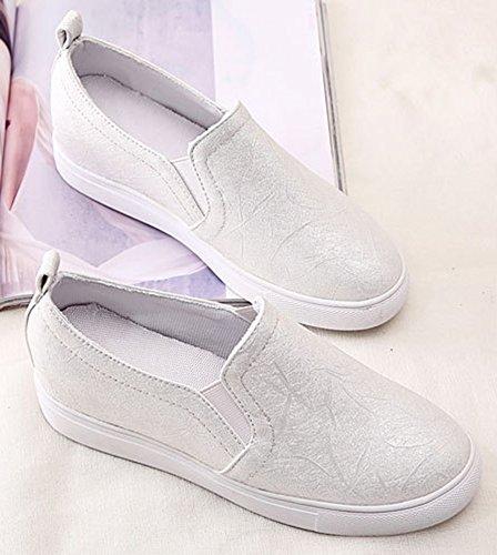 Aisun Platform Slip Sneakers White On Women's Wedge Breathable FrqHwSW6xF